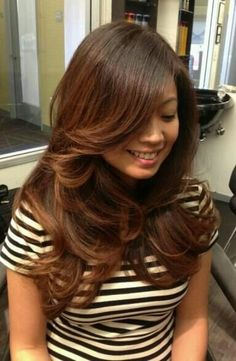 Multi-tonal Red copper brown ombre. | Yelp