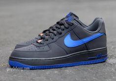 Nike Air Force 1 Low   Dark Grey   Royal Blue