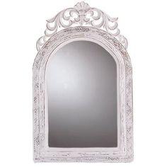 Amazon.com: Distress Distressed Finish White Wood Frame Wall Mirror: Home & Kitchen