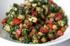 Lemony chickpea stir fry. Looks like a healthy and filling dinner for two.