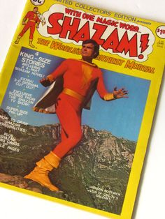SHAZAM ! 1975 Limited Collector's Edition DC Large Comic of The World's Mightiest Mortal-Perfect Condition by TheNerdBoyfriend on Etsy