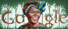 Wangari Maathai 73rd Birthday [73 года со дня рождения Вангари Маатаи] /This doodle was shown: 01.04.2013 /Countries, in which doodle was shown: Burundi, Congo (DRC), Côte d'Ivoire, Ethiopia, Ghana, Kenya, Mozambique, Namibia, Nigeria, Rwanda, Senegal, South Africa, Tanzania, Uganda, Zimbabwe