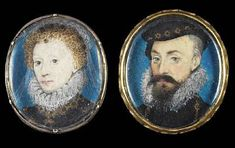portraits, painted by Hilliard, depicting Queen Elizabeth I and Robert Dudley, 1st Earl of Leicester at Bonhams Knightsbridge on 25th November.
