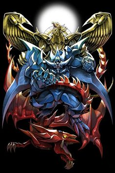 artist_name bawang-ryuuzaki blue blue_skin dragon duel_monster fangs gold monster no_humans obelisk_the_tormentor open_mouth red red_skin slifer_the_sky_dragon teeth the_winged_dragon_of_ra wings yellow_skin yu-gi-oh! Desenho Yu Gi Oh, Digimon, Atem Yugioh, Obelisk The Tormentor, Yugioh Decks, Yugioh Monsters, Yugioh Collection, Pokemon, Pikachu