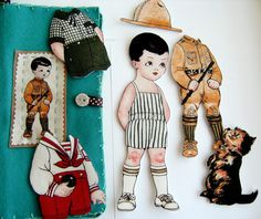 Fabric Paper Doll Gift Set - American Boy | by Clara Clips