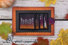 waterfall with lawn cuts «flippin' awesome Waterfall Cards, Interactive Cards, Lawn Fawn, Halloween Cards, Cool Cards, Shadow Box, Cardmaking, Paper Crafts, Type