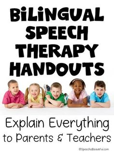Bilingual speech therapy handouts in Spanish and English to give to parents at meetings to help them understand what is happening during the evaluation process. Contents include the basics, referral process, speech and language assessment, speech sound disorders, and more! - Speech is Beautiful