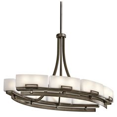 Kichler Lighting 42431SWZ 16 Light Leeds Oval Chandelier Island Light