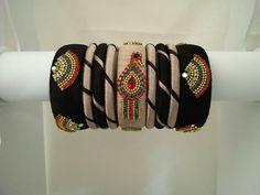 Silk thread bangles new designs. Silk Thread Jumkas, Silk Thread Bangles Design, Silk Thread Necklace, Silk Bangles, Bridal Bangles, Indian Bangles, Thread Art, Fancy Jewellery, Thread Jewellery