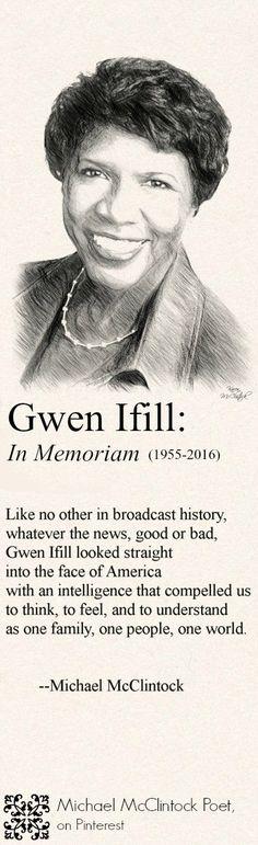 Gwen Ifill: In Memorium, poem by Michael McClintock.
