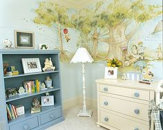 The Best Baby Nursery Pictures I like the idea of painting an actual picture from a storybook on the walls. Although it would be hard to choose which one. The post The Best Baby Nursery Pictures appeared first on Decor Ideas. Winnie The Pooh Nursery, Vintage Winnie The Pooh, Bear Nursery, Disney Nursery, Nursery Room, Girl Nursery, Winnie The Pooh Decor, Nursery Murals, Wood Nursery