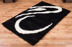 Fekete shaggy szőnyeg