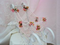 Shabby Chic Christmas Decoration //Pink by sharenchantedcottage