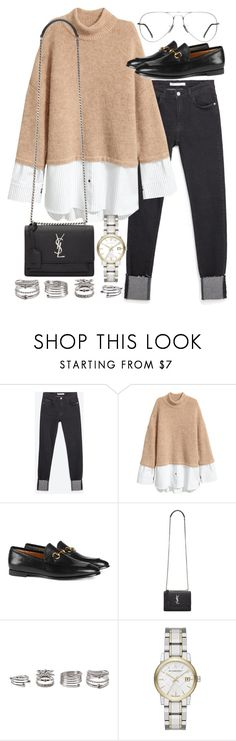 """""""Untitled #20541"""" by florencia95 ❤ liked on Polyvore featuring Zara, Gucci, Yves Saint Laurent, Forever 21, Burberry and Ray-Ban"""