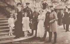 German Crown Prince Wilhelm w. Crown Prince Ferdinand of Romania & family RARE p