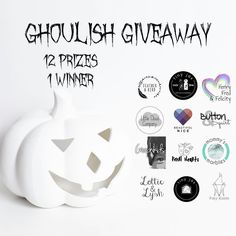 G H O U L I S H  G I V E A W A Y!  In the spirit of Halloween we have teamed up with some of our favourite brands to bring you this Ghoulish Giveaway! One lucky winner will be the recipient of some spooky themed goodies! Here at @lottieandlysh we are giving away a ghoulish pair of skull leggings in your choice of lilac mono or grey!  How to enter:  Follow ALL 12 accounts and like this picture in all 12 feeds this will be checked. (If you are unable to like all photos at time of giveaway…