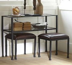 Entryway Furniture, Entryway Tables & Entryway Storage | Pottery Barn - Tanner Console Table