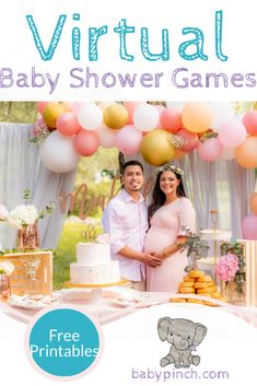 Don& let social distancing and the pandemic stop you and your favorite people from sharing an amazing party with exciting virtual baby shower games. Bingo Baby Shower, Baby Shower Virtual, Fun Baby Shower Games, Baby Shower Printables, Baby Shower Favors, Shower Party, Baby Shower Parties, Baby Shower Themes, Shower Ideas