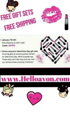 Vist my estore @ http://www.helloavon.com #Valentinesday #limited #free #giftsets & #FreeShipping