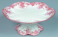 Shelley China Dainty Orange pattern Cake Stand,