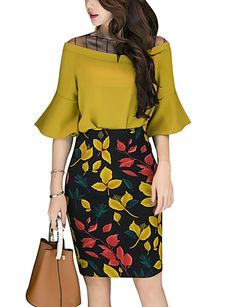 56 Casual Summer Outfits That Always Look Great Outfit Trends, Blouse And Skirt, African Dress, Mode Style, Classy Outfits, Fall Outfits, Skirt Outfits, African Fashion, Blouse Designs