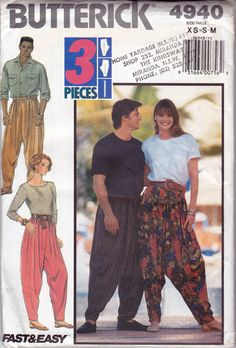 90s MC Hammer Pants Harem Pants Yoga Pants by allthepreciousthings