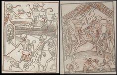 1400's Danse Macabre Black Death inspired art Momento Mori--Remember You Will Die