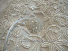 Silk Shantung and Guipure Lace  Ivory Ring by GorgeousComplements, $37.00