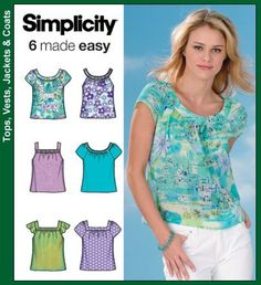 Simplicity 4589 from Simplicity patterns is a Misses' Tops sewing pattern