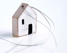 Wooden house pendant