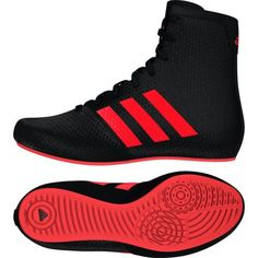 huge discount 3bee4 6fc7f Adidas KO Legend Boxing Boots - Kids - Black Red Boys Shoes Trainers  Boxing  Boots  Boxing