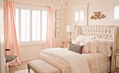 Lovely Gold and Light Pink Accent Bedroom  By: Randi Garrett Designs
