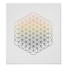 Flower of life sacred geometry template for DIY crystal grids.