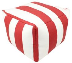 Lava 42613.999 Red Cabana Pouf 12x16 Square Indoor-Outdoor