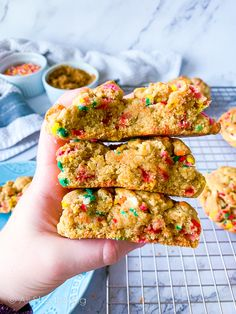 These soft-baked funfetti cookies are gooey and moist on the inside and packed with sprinkles, vanilla, and the warm toasty flavor of brown butter! Finally, they're super easy, no-chill, and one-bowl!