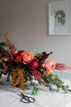 A Daily Something | Wintry Floral Centerpiece