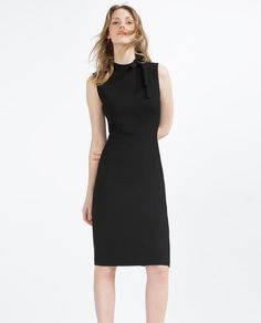Image 1 of TUBE DRESS WITH TIE-UP NECKLINE from Zara