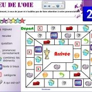 Jeux interactifs pour la classe de francais .