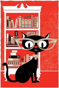 Black Cat Screenprint seen on Paper Crave