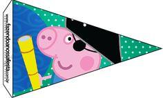 Bandeirinha George Pig Pirata: