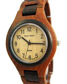 TENSE- Founded in 1971, Tense high quality wooden time pieces is owned and operated in British Columbia, one of the most beautiful places in the world. The world's best natural materials and use one of the world's top watch movement, Miyota 2035, from Japan.