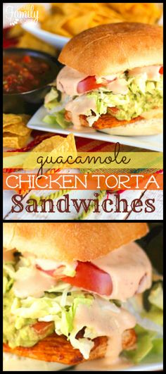 These Guacamole Chicken Torta Sandwiches are my kind of Mexican food! I loved th… These Guacamole Chicken Torta Sandwiches are … Asian Recipes, Mexican Food Recipes, Healthy Recipes, Ethnic Recipes, Avocado Recipes, Popular Recipes, Great Recipes, Favorite Recipes, Chicken Sandwich Recipes