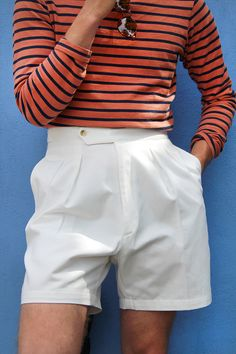 22a8067414 High-waisted riviera shorts. Men TrousersTailored TrousersHigh Fashion  MenMale FashionCasual ...