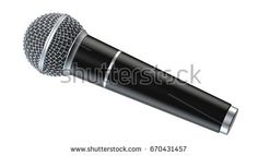 Microphone isolated on white background 3D render.