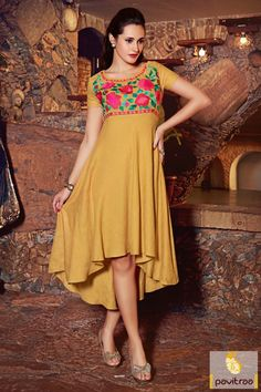 Exhilarant beige linen designer long kurti with ready-made that is perfect for party and diwali. It is designed with colorful threaded embroidery on neck. #kurti, #ladiestunics, #casualkurti, #dailywearkurti, #stylishkurti, #officewearkurti, #embroiderykurti, #pavitraafashion More : http://www.pavitraa.in/store/embroidery-kurtis/ Call / WhatsApp : +91-76982-34040  E-mail: info@pavitraa.in