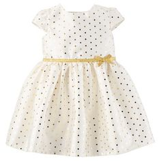 Just One You™Made by Carter's® Toddler Girls' Polka Dot Dress - Cream/Gold