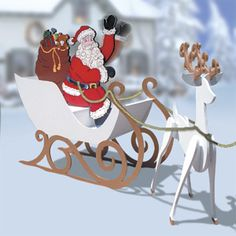 11-1080 - 3-d Santa Waving Woodworking Plan - Woodworkersworkshop® Online Store