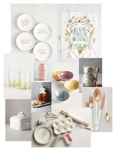 """""""Dream kitchen"""" by chris-marie-widener on Polyvore featuring interior, interiors, interior design, home, home decor, interior decorating, Anthropologie, Cost Plus World Market and kitchen"""