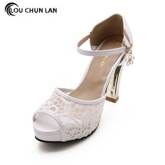 Shoes Women's Shoes Pumps white blue pink black color High heels Wedding Shoes lace Peep Toe Bride Shoes bridesmaid fashion #Black high heels http://www.ku-ki-shop.com/shop/black-high-heels/shoes-women-s-shoes-pumps-white-blue-pink-black-color-high-heels-wedding-shoes-lace-peep-toe-bride-shoes-bridesmaid-fashion/