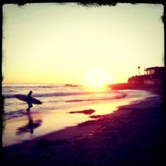 run away from reality for an hour; night surf